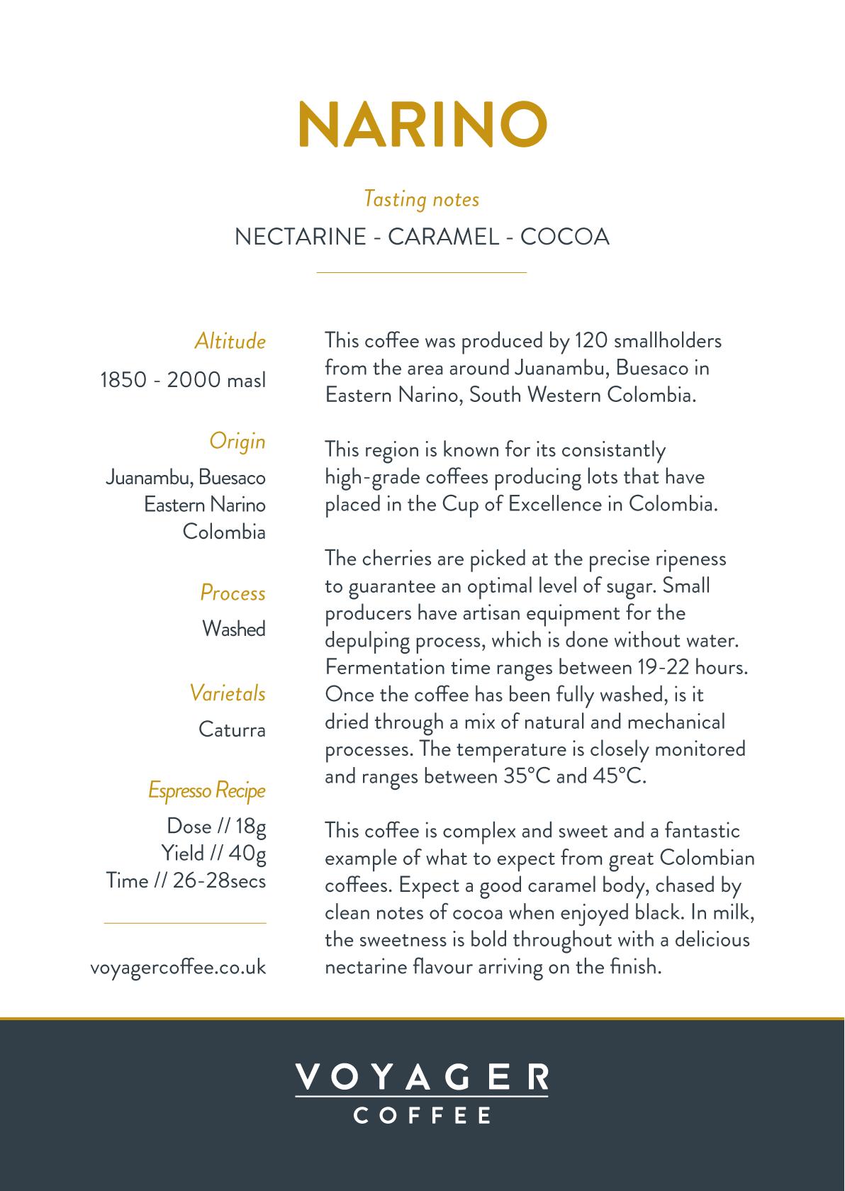 Colombia Narino Recipe